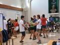 fröhliche Teilnehmer